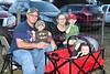 Joseph, Clint, Sherry, Jeremy and Kharlie the McDaniel family wait on the Ingram Parade to start