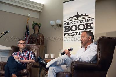 Anthony Marra & George Plecanos, Nantucket Book Festival, Great Hall, Nantucket Atheneum June 20, 2014