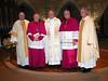 Student council president Dn. William DeCrans, Bishop Sklba, Fr. de Jong, Bishop Callahan and Fr. Cassidy.
