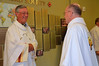 Out-going provincial, Fr. Tom Cassidy, with Fr. Steve before Mass.