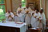 Ordained members of the new administration join Fr. Steve at the altar