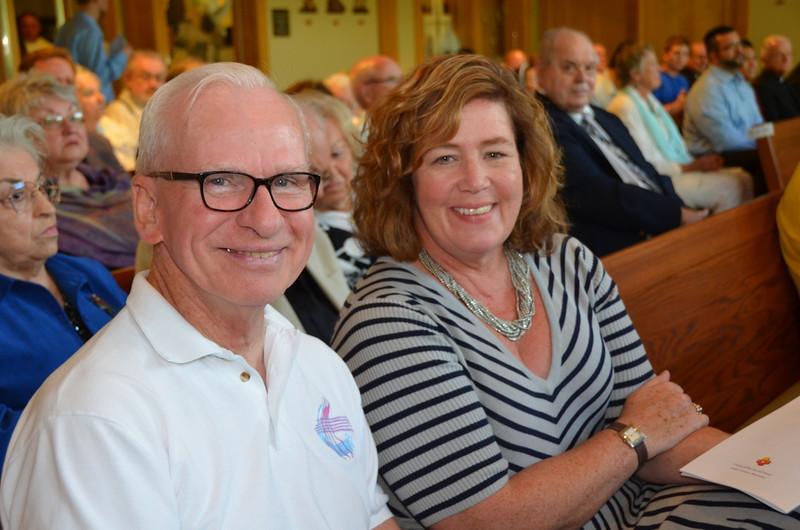 Fr. John Czyzynski with province attorney, Kathleen Dahlgren