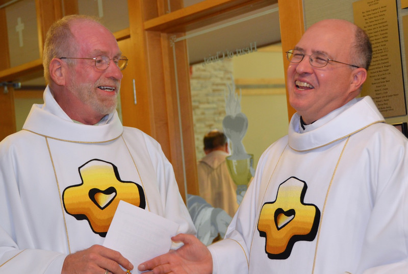 Fr. Ed Kilianski, vice provincial, and Fr. Steve.