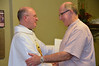 Br. Ray Kozuch, province vocation director, congratulations Fr. Steve.