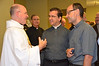 Fr. Steve receives congrats from students in the ESL program, including Fr. Carlos Enrique Caamaño Martin, the regional superior of Venezuela (center).