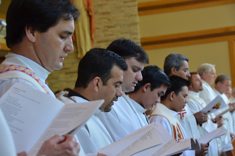 ESL students, including SCJ priests from around the world, joined the province at the Mass.