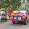 Grand Marshal Bud Surral leads the Independence Day parade through the streets of Interlachen. Fran Ruchalski/Palatka Daily News