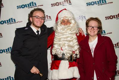 Santa & John and Megan Wilcox