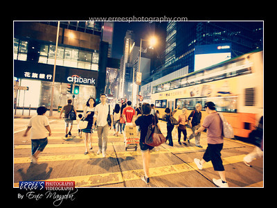 Pedder Street, Cental, Hongkong during rush hour