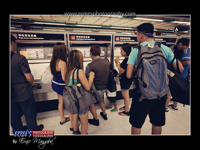 MTR during buying card for the train.