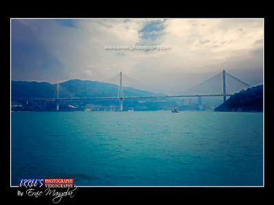 One of the Best Bridge of Hongkong.Shoot during we are in Ferry Boat going to Macau.