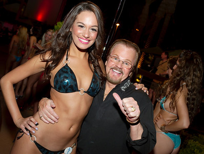 Photo at International Bikini Team Aloha State swimsuit competition contest Silverton Casino Lodge pool side Sway with bikini models from around the world including USA. $4500 Prize money to the top 10 competitors with top 2 going to Bahamas on all expenses paid trip. Jaymes Vaughan The Russell Group was your host and lively emcee for the night. More information at  http://www.internationalbikiniteam.org/  Win prizes free trips win money submit your photograph for contest consideration Contact email   models@internationalbikiniteam.org