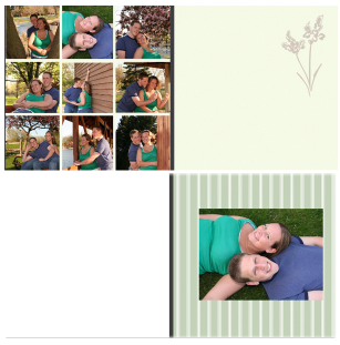 <center>Guestbook Signature Journal   A beautiful personalized guestbook,<br> your family and guests will enjoy. This is designed with your engagement session photos, up to 40 pages in size.   $90 Investment </center>