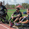 Retired Chief Petty Officer Javier Rodriguez (pictured right) of Orlando, Private Paul Warren, 1st Batalion Royal Australian Regiment (center) and Retired Petty Officer 3rd Class Henry Sawyer (pictured left) of Callahan, Fla. (near Jacksonville), Invictus Games Media Day, ESPN Wide World of Sports at Walt Disney World, Florida - 16th March 2016 (Photographer: Nigel G Worrall)