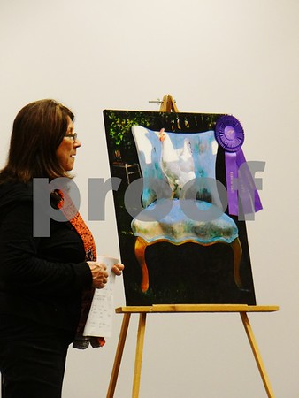 """Diane Liepa is the artist of """"Royal Roost"""", awarded Best In Show"""