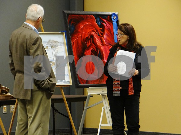 """James Updegraff artist of """"Auburn Township"""", awarded First Place"""