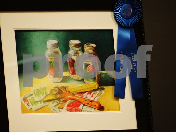 """Carol Gunn artist of """"Ready for Spring"""", awarded first place."""