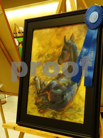 "Hope Wallen the artist of ""The New Colt"", awarded First Place."