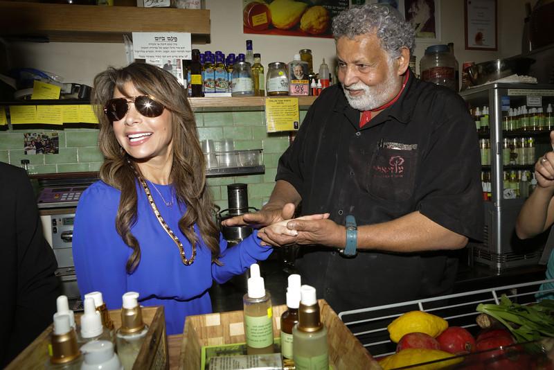 Paula Abdul Visits Israel