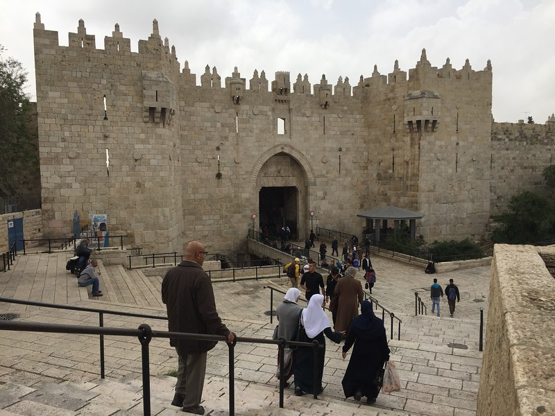 Damascus Gate is one of the main entrances to the Old City of Jerusalem.