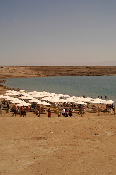 The Dead Sea is bordered by Jordan, Palestine and Israel.