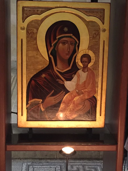 Our journey to Israel was truly a WOW moment at every corner of the city due to the historic presence everywhere!  This historic painting of Mother Mary and Baby Jesus can be seen at Church of the Holy Sepulchre, so begin our photo journey with us.