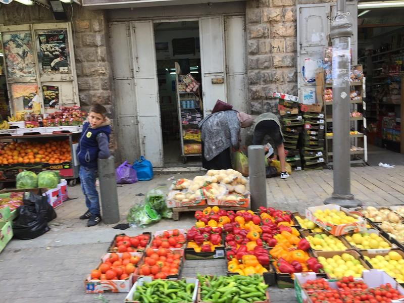 On the streets of Jerusalem near the Damascus Gate entrance to the Old City of Jerusalem.
