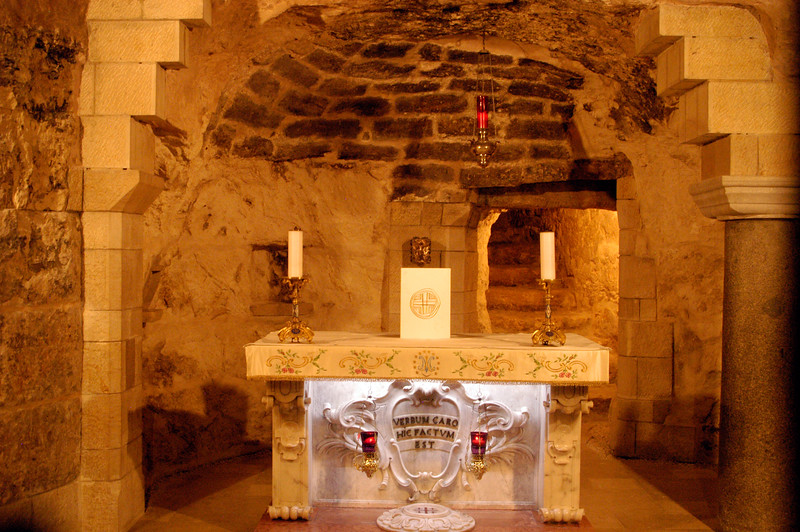 The altar of the original church.
