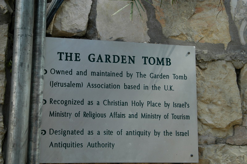 By some Christians this is the site of the burial and resurrection of Jesus.  The tomb has been dated by Israeli archaeologist Gabriel Barkay to the 8th-7th centuries BC.