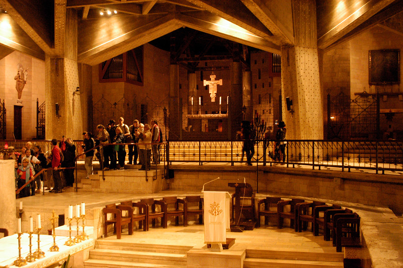 Inside the Basilica of the Annunciation.