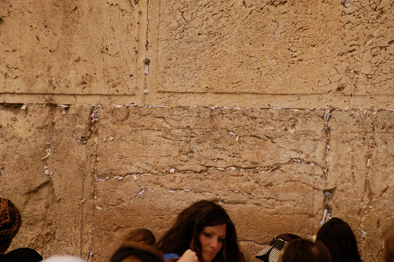 Women now have a section on the HOLY TEMPLE wall for their prayer time.  Men have there section to the left side.