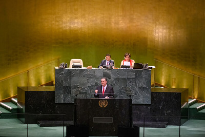 Israel Minister of Foreign Affairs, Israel Katz, at   the United Nations.