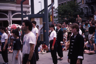 Agape School Demonstrating at the Ithaca Festival; August 1990