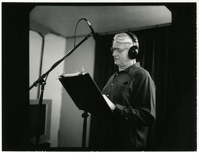 Ivan Stuart recording audio book at Terra Vista Media