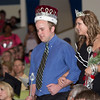 Brother and sister Luke and Stacee Wright enter the Memorial Hall auditorium after being announced Ivy Day king and queen. (Photo by Justin Haag)