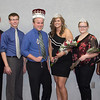 The king and queen, at center, and their attendants, who were not ranked. From left, Paul McGowan, Jeff Alcorn, Kyle Klammer, Dalton Nelsen, Luke Wright, Stacee Wright, Chloe Olson, Nisha Durand, Chrissy Black and Bridget Scherbarth. (Photo by Justin Haag)