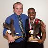 Platinum Eagle award winners Luke Wright of Hamlet and Nisha Durand of Salisbury, Dominica. (Photo by Justin Haag)