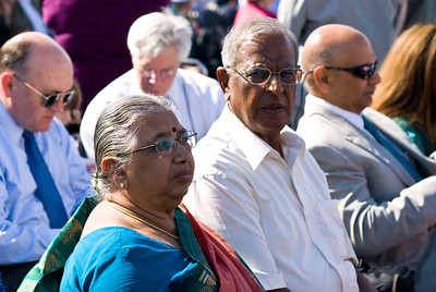 Amma and Appa at the Ceremony under the blazing sun