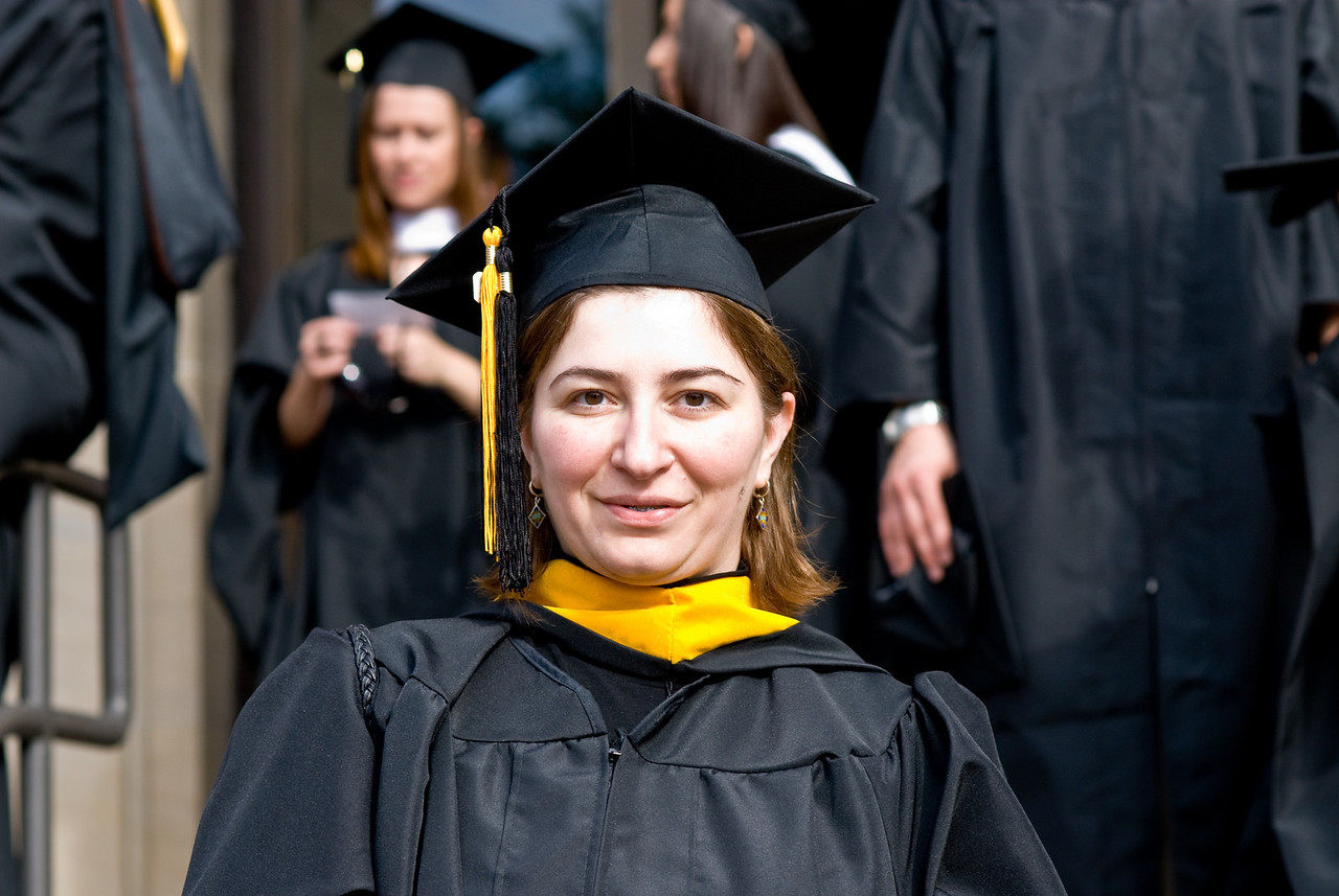 Ekaterina at Ralph O'Connor Gymnasium before the Ceremony