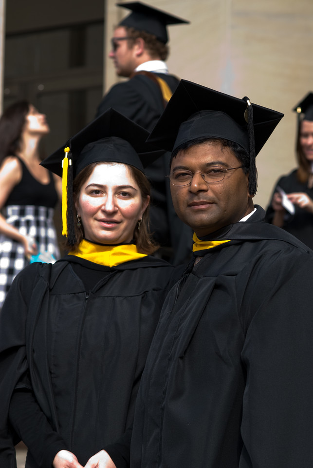 Ekaterina and Anand at Ralph O'Connor Gymnasium before the Ceremony