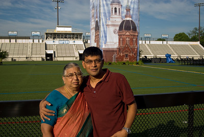 Santy and Amma, Homewood Field before the ceremony.