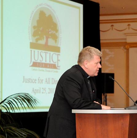 JUSTICE FOR ALL , 10 TH. ANNUAL DINNER. JOHN L. ALLEN JR. SPEAKER 04/25/13