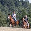 Diane & Scott coming up Brook Loop Trail