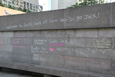 Jack Layton Memorial at City Hall