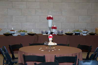Buffet table behind table for adults   (Dec 03, 2005, 12:59pm)