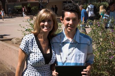 Jake's 8th grade promotion