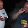 John and DJ adding hops