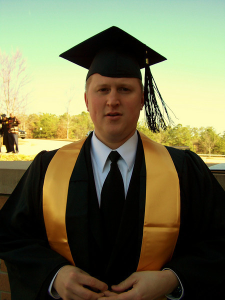 Congrats, James, you finally did it! He was awarded a Bachelor's of Science Degree in Communication-Media Arts!!