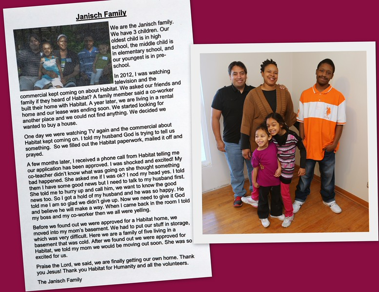 The Janisch Family Habitat story.