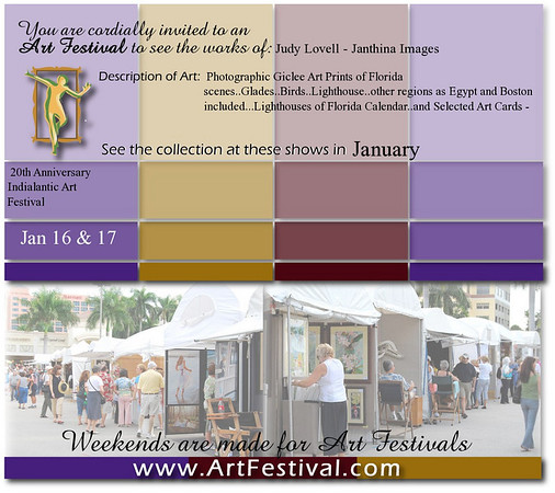 Invite to our first outdoor art show!! A wonderful weekend and we agree that weekends are for art festivals.